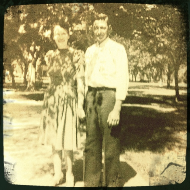 This is Grandma and Grandpa in 1939, the year they were married.