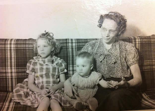 Grandma with my aunt Alice and my Mom (Mom is the baby).  This would have been in 1948 or so.