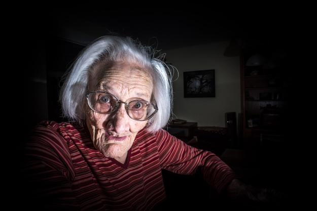 Grandma goofing.