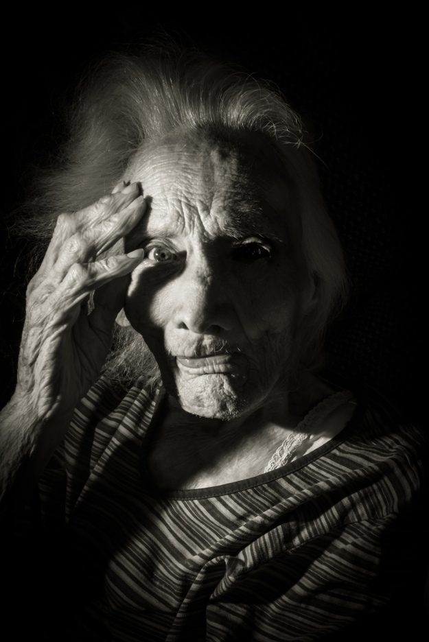 A picture of Grandma I took just a couple of days after her fall.  She's still a bit of a ham.